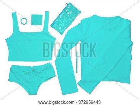 Tennis Style. Fashionable Tennis Accessories-notebook, Pencil, Tennis Balls, Tennis Shorts, Tennis C