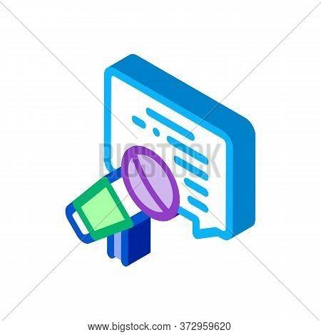 Seminar Microphone Speak Icon Vector. Isometric Seminar Microphone Speak Sign. Color Isolated Symbol