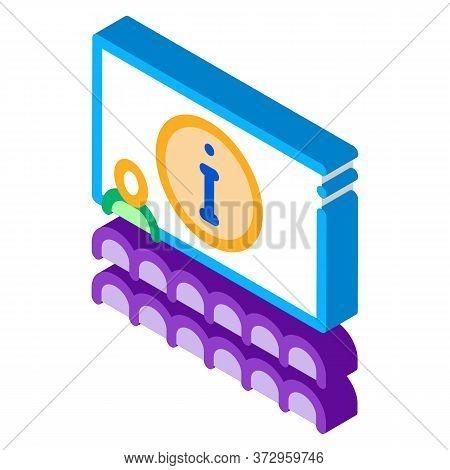 Lector Information Blackboard Icon Vector. Isometric Lector Information Blackboard Sign. Color Isola