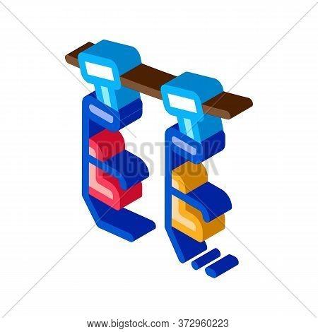 Ski Resort Chairlift Icon Vector. Isometric Ski Resort Chairlift Sign. Color Isolated Symbol Illustr