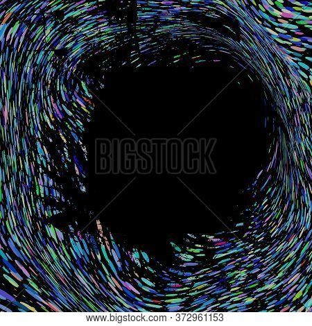 Frame In The Middle Of A Colorful Abstract Background, Vector
