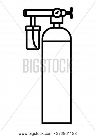 Oxygen Cylinder Design, Emergency Rescue Save Department 911 Danger Help Safety And Aid Theme Vector