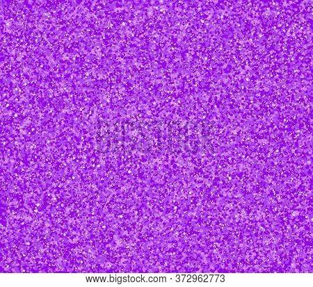Purple Gold Glitter Texture. Golden Abstract Particles. Sparkle Glitter Background. Vector Illustrat