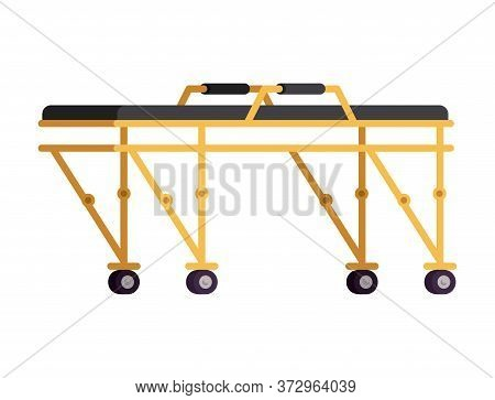 Stretcher Design, Emergency Rescue Save Department 911 Danger Help Safety And Aid Theme Vector Illus