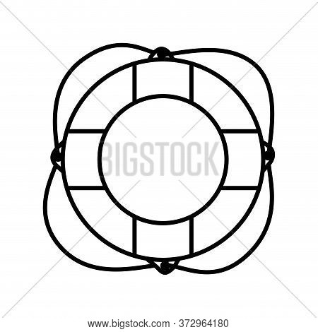 Lifebuoy Design, Emergency Rescue Save Department 911 Danger Help Safety And Aid Theme Vector Illust