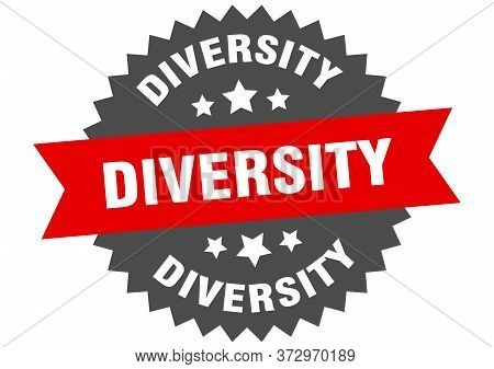 Diversity Sign. Diversity Circular Band Label. Round Diversity Sticker