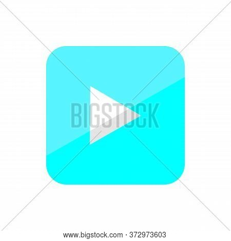 Video Icon In Blue With A White Background.