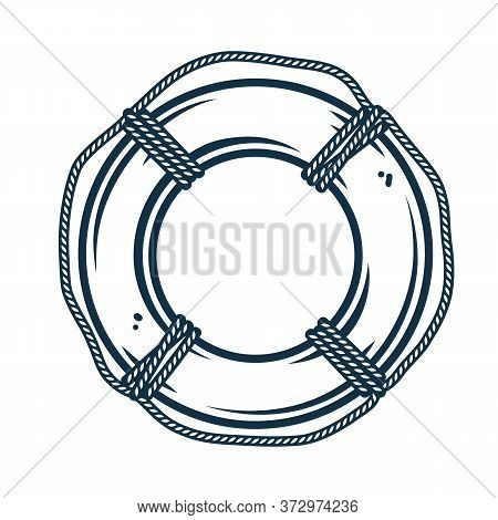 Help Lifebuoy Life Preserver Circle With Rope