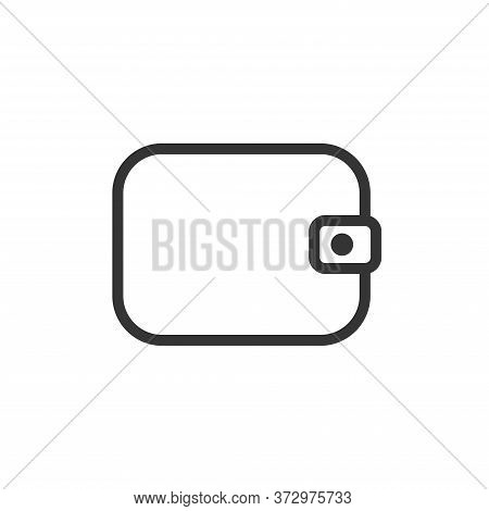 Wallet Outline Icon. Vector Illustration.