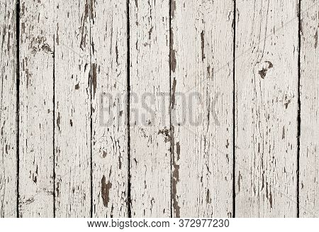Shabby Wooden Background Texture Surface. Wooden Light White  Retro Shabby Planks Wall,table Or Floo