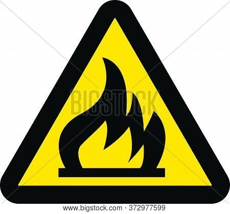Flammable Hot Fire Warning Sign New Design