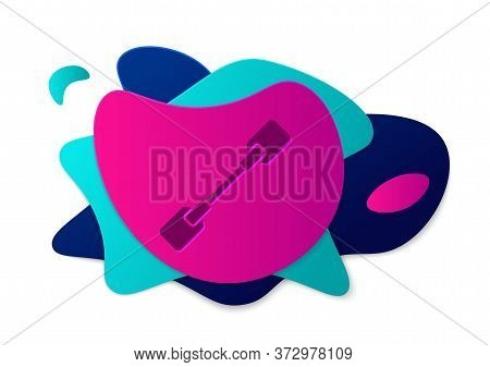 Color Paddle Icon Isolated On White Background. Paddle Boat Oars. Abstract Banner With Liquid Shapes