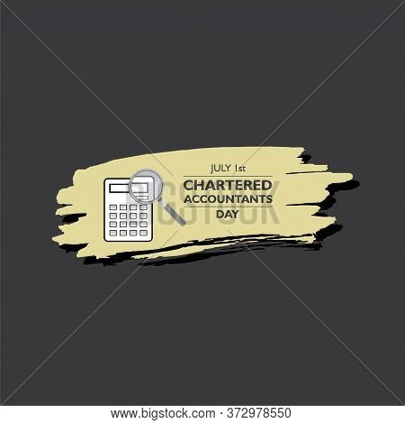 Vector Illustration Of Chartered Accountant Day Observed On 1st July In India