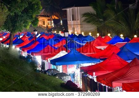 Luang Prabang Night Market Laos Southeast Asia