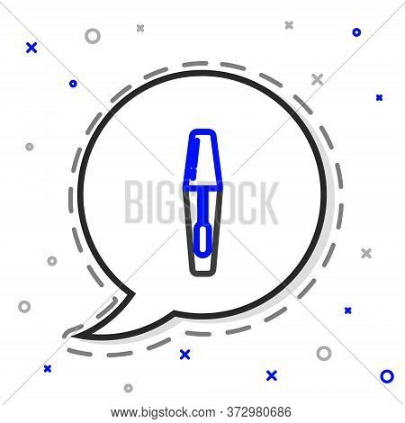 Line Mascara Brush Icon Isolated On White Background. Colorful Outline Concept. Vector Illustration