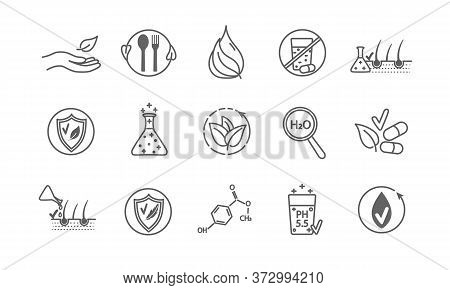 Large Set Of Line Drawn Vector Health And Wellness Icons Showing Research , Treatments, Supplements,
