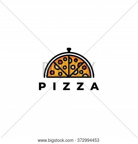 Pizza Logo Template-pizza Cafe Logo Icon, Pizza Icon, Emblem For Fast Food Restaurant. Simple Flat S