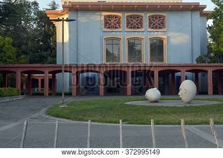Davis, California, Usa, 23 June 2017. Closeup On Celeste Turner Wright Hall At Uc Davis. The Buildin