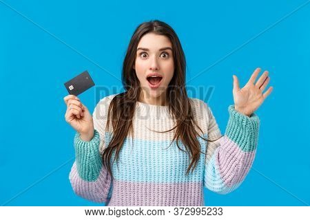 Girl Telling About Awesome News, Explaining Something Passionetly And Excited, Gesturing Holding Cre