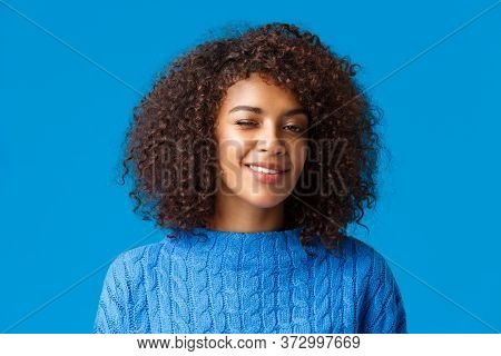 Everything Be Alright, Relax And Enjoy Holidays. Cheerful Cute And Coquettish African American Hipst