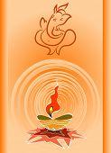 Ganesha Diwali Design poster