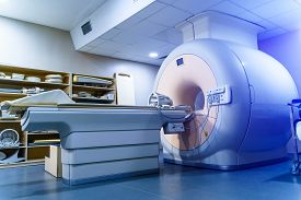 Medical Ct Or Mri Or Pet Scan Standing In The Modern Hospital Laboratory. Technologically Advanced A