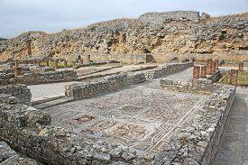 Roman Mosaic Floor In Conimbriga In Portugal