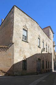 Buildings On A Street In Ciudad Rodrigo, Spain