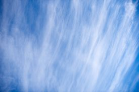 Background Blue Sky With White Cirrus Clouds. Cirrus Clouds.