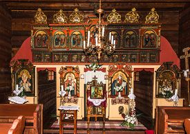 Svidnik,slovakia - June 9,2020 - View At The Interior Of Wooden Church Of St.paraskeva From Village