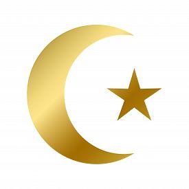 Islamic Faith Symbol Isolated Islam Religious Sign