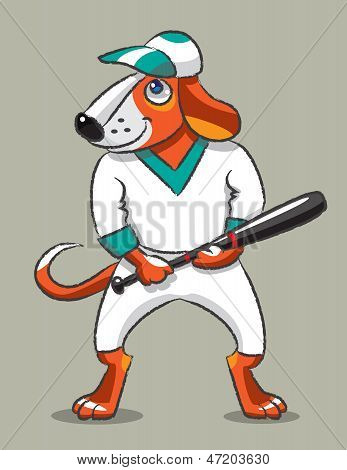 Dog The Baseball Player