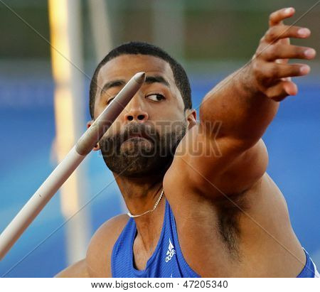 Javelin Throw Male Athlete Canada