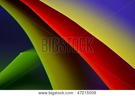 Abstract Colored Paper Background Stacked In Curved Shape