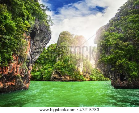 Cave Rocks On Railay Beach