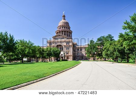Texas State Capitol Building in Downtown Austin on a Sunny Day poster