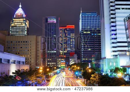 Taipei, Taiwan cityscape in the Xinyi financial district.