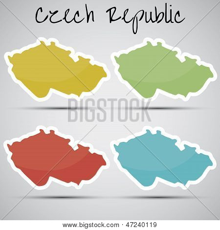 stickers in form of Czech Republic