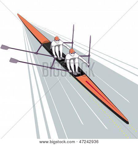 Rowing Teamwork Water Sport