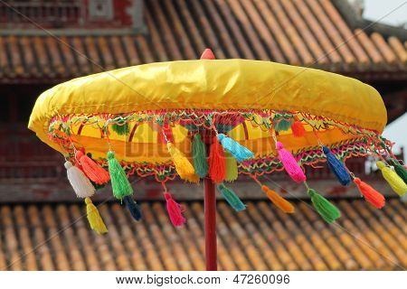 Umbrella at a Pagoda