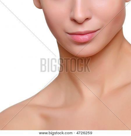 Feminine Face Close Up