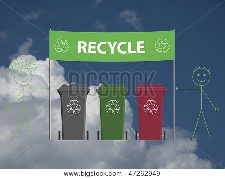 Recycling banner