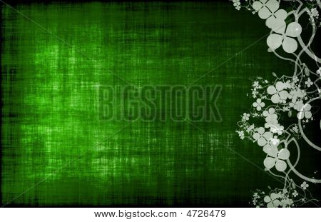 Green Grunge Floral Decor Old Texture Background poster