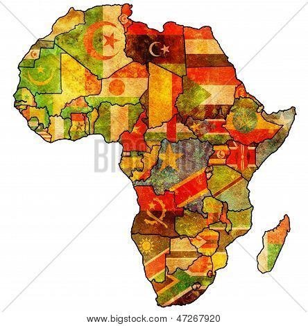 African Union On Actual Map Of Africa