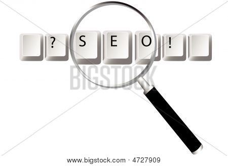 Seo Keys Magnifying Glass Search Optimized Searches