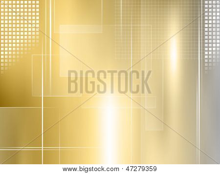 Golden background - abstract metal design