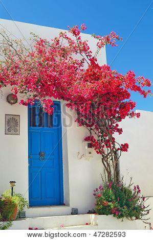 Traditional Greek Door On Sifnos Island, Greece