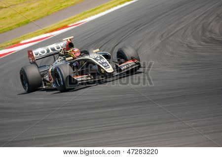 MOSCOW - JUNE 23: Marlon Stockinger of Lotus team (CZE) race at Formula Renault 3.5 race at World Series by Renault in Moscow Raceway on June 23, 2013 in Moscow