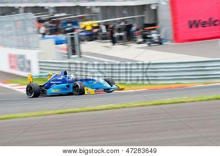 MOSCOW - JUNE 23: Nyck de Vries of Koiranen GP team (FN) race at Formula Renault 2.0 race at World Series by Renault in Moscow Raceway on June 23, 2013 in Moscow