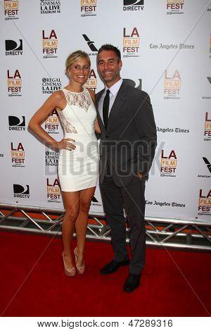 LOS ANGELES - JUN 23:  Monica Richards, Jay Harrington arrives at